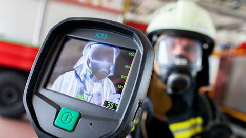 Wärmebildkamera bei der Feuerwehr im Einsatz