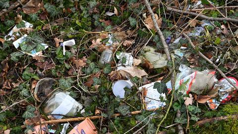 Müll im Wald Hessen