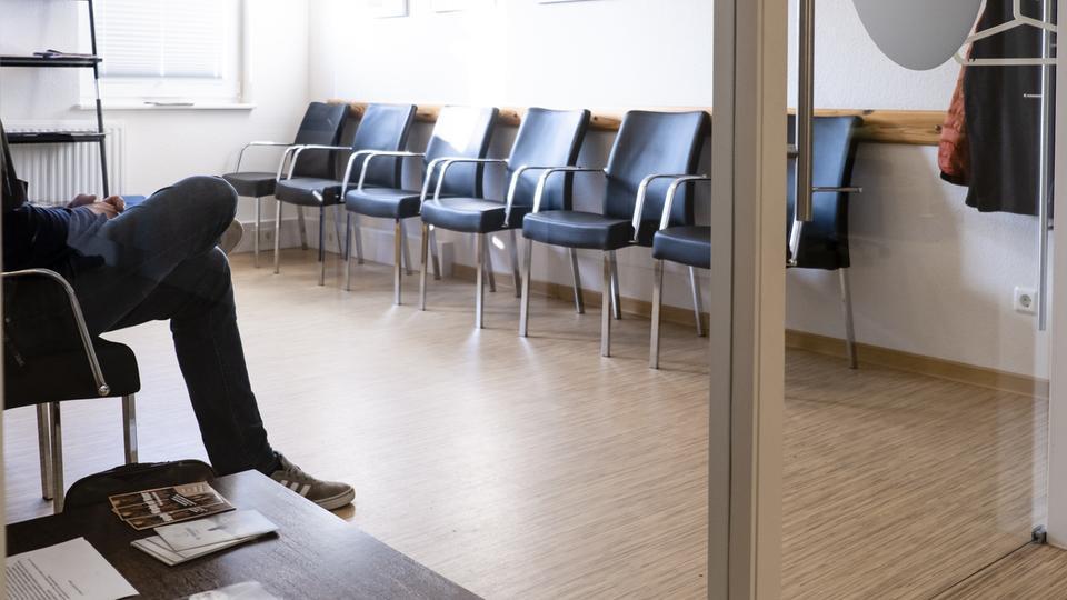 Wartezimmer in einer Arztpraxis