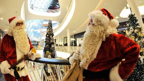Weihnachten Einkaufen Handel Frankfurt Sujet