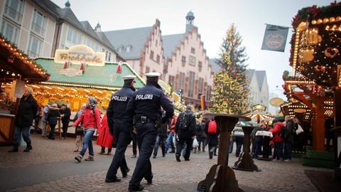 Weihnachtsmarkt Frankfurt Polizei