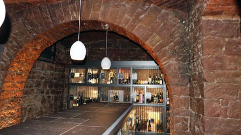 Blick in das Gewölbe der Frankfurter Weinbank