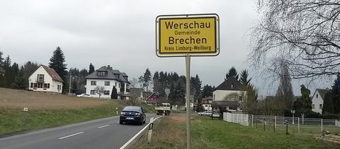 Ortsschild von Werschau