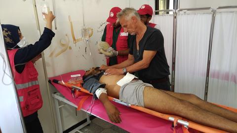 Drei Wochen lang half Notfallmediziner Wilk in Nordsyrien.