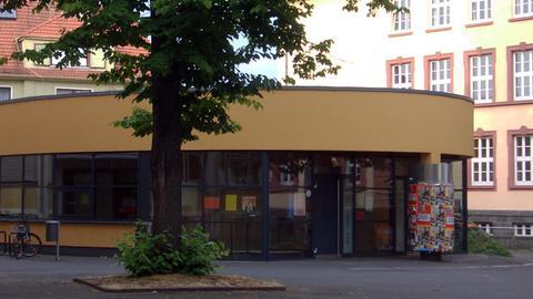 Aula der Wirtschaftsschule am Oswaldsgarten in Gießen