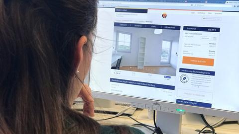 """Auf der Online-Seite von """"Medici Living"""" können Studenten WG-Zimmer buchen."""