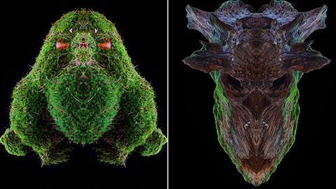 Collage mit zwei Arbeiten von Adrian Bischoff