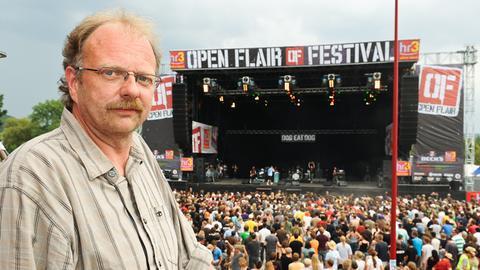 Alexander Feiertag vom Open Flair Festival