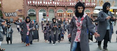 Affen in der Altstadt Frankfurt