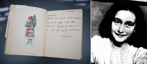 Bildkombo Exponat, Anne Frank