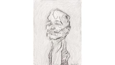 Selbstportrait Frank Auerbach, 2017