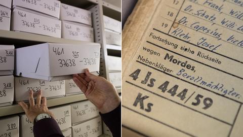 Im Hessischen Hauptstaatsarchiv in Wiesbaden lagern die Akten des Frankfurter Auschwitz-Prozesses