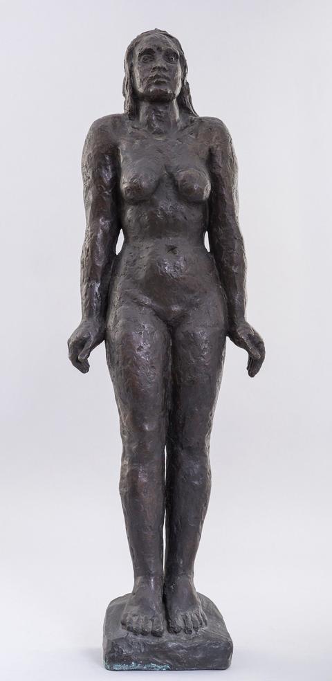 """Bronzeskulptur in der Ausstellung """"Suizid"""""""