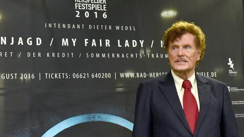 Intendant Dieter Wedel bei der Pressekonferenz zur Programmvorstelldung der Bad Hersfelder Festspiele