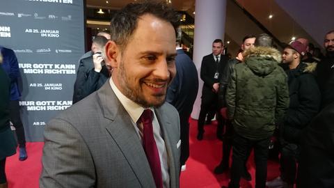 Moritz Bleibtreu bei der Filmpremiere in Frankfurt