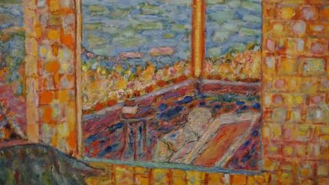 """Pierre Bonnard """"Die sonnige Terrasse"""", 1939 - 1945, Ausschnitt"""