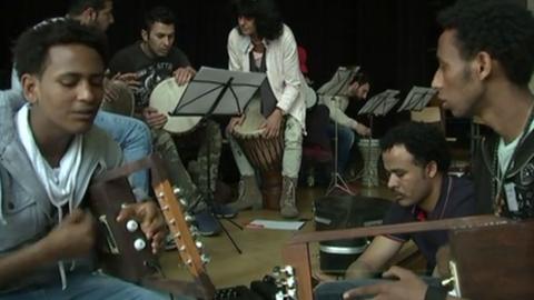 Konzertprobe des Musik-Projekts Bridges