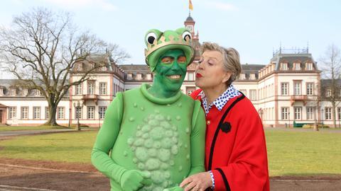 Marie-Luise Marjan mit Froschkönig