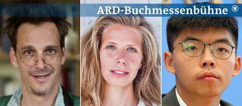 Drei Portraits von Max von Thun, Greta Taubert und Joshua Wong (von links nach rechts).