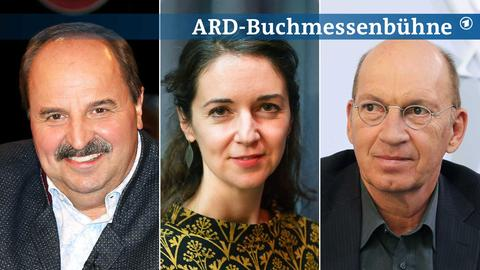Potraits von Dierk Hirschel, Iris Wolff und Jürgen Neffe (von links nach rechts).