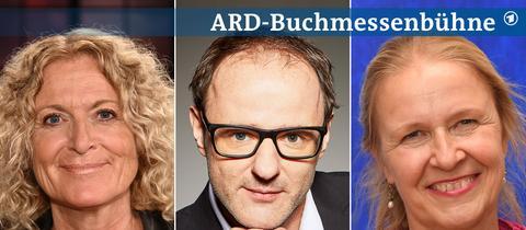 Drei Portraits von Kathrin Hartmann, Andrea Petković und Cornelia Funke (von links nach rechts).