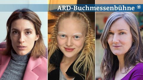 Drei Portraits von Andrea Petkovic, Anne-Sophie Monrad und Nell Zink (von links nach rechts).