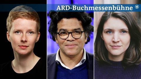 Portraits von Judith Zander, Ijoma Mangold und Verena Keßler (von links nach rechts).