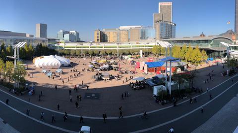 Der zentrale Platz Agora auf der Buchmesse