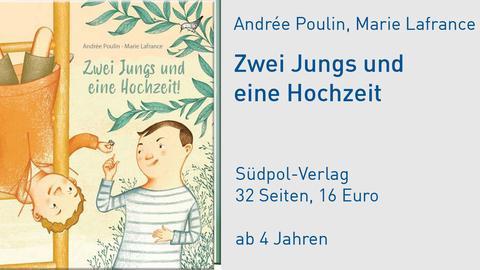 """Andrée Poulin """"Zwei Jungs und eine Hochzeit"""" Cover"""