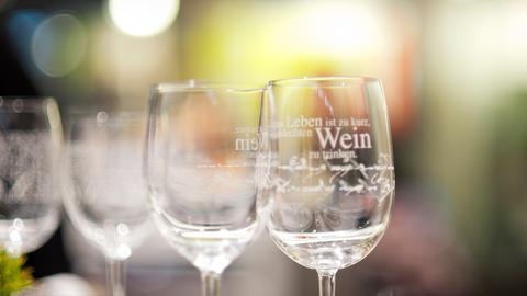 Weinglas in der Gourmet Gallery
