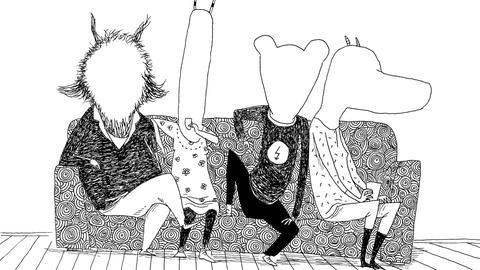 Illustration aus Kinder Künstler Fratzenbuch der Labor Ateliergemeinschaft aus Frankfurt