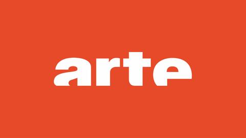 Arte-Logo auf orangenem Grund