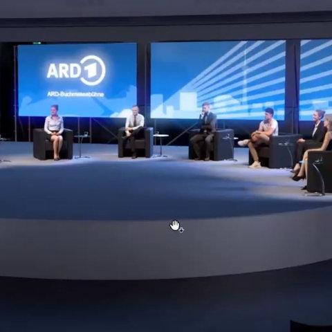 Visualisierung der ARD-Buchmessenbühne