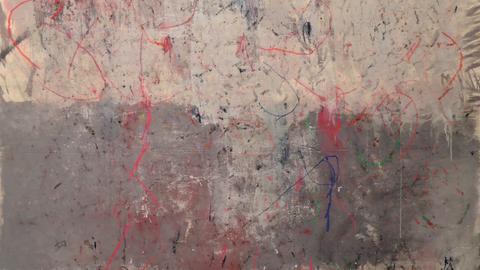 Werk von Avto Berdznishvili für die Ausstellung im Kunstraum Berusstraße