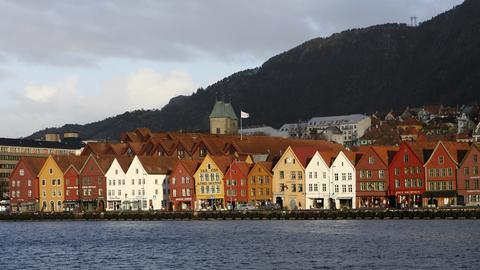 Bryggen Bergen Norwegen