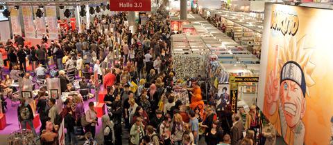 Innenansicht der Halle 3 bei der Frankfurter Buchmesse