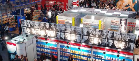 Hallenansicht auf der Frankfurter Buchmesse