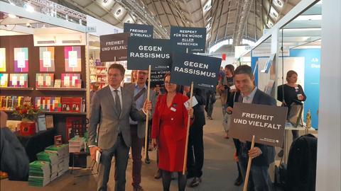 Protest gegen rechte Verlage