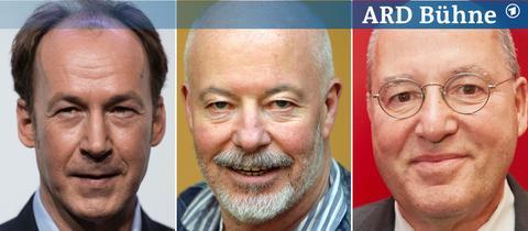 Gäte auf der ARD Bühne: Ulrich Noethen, Bill Mockridge, Gregor Gysi