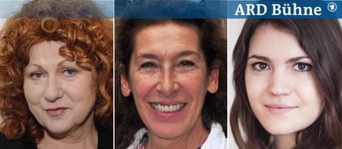 Gäste auf der ARD Bühne: Anne Chaplet, Adele Neuhauser, Sina Pousset