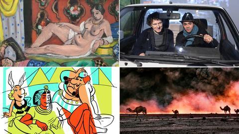 Collage mit Fotos zu Ausstellungen