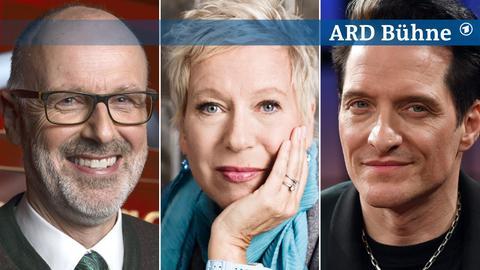 Collage Bühne Freitag Peter Wohlleben, Doris Dörrie, Bela B. Felsenheimer