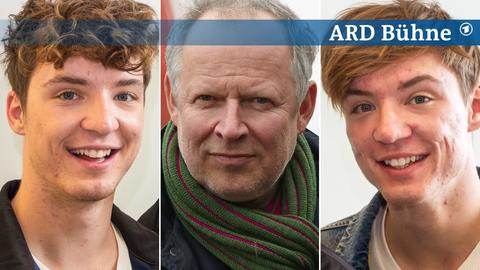 Collage Bühne Sonntag Roman Lochmann, Axel Milberg, Heiko Lochmann