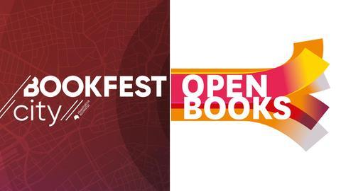 Die Logis der Veranstaltungsreihen Bookfest city und Open Books