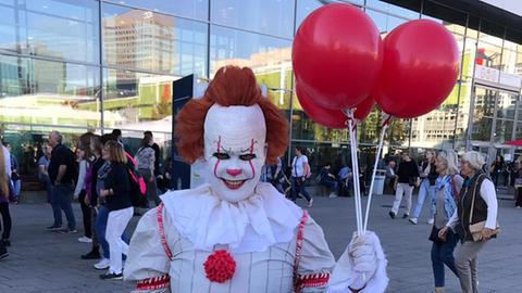 Horrorclown auf der Frankfurter Buchmesse