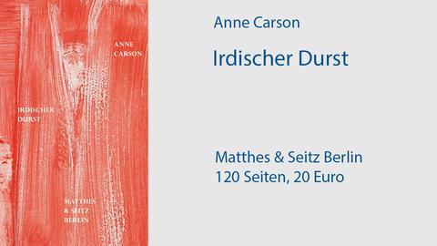 Cover Anne Carson