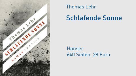 Cover Thomas Lehr Schlafende Sonne
