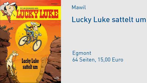 Cover Lucky Luke sattelt um - Hommage von Mawil