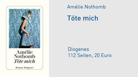 "Cover Amélie Nothomb ""Töte mich"""