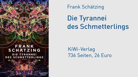 """Cover Frank Schätzing """"Die Tyrannei des Schmetterlings"""""""